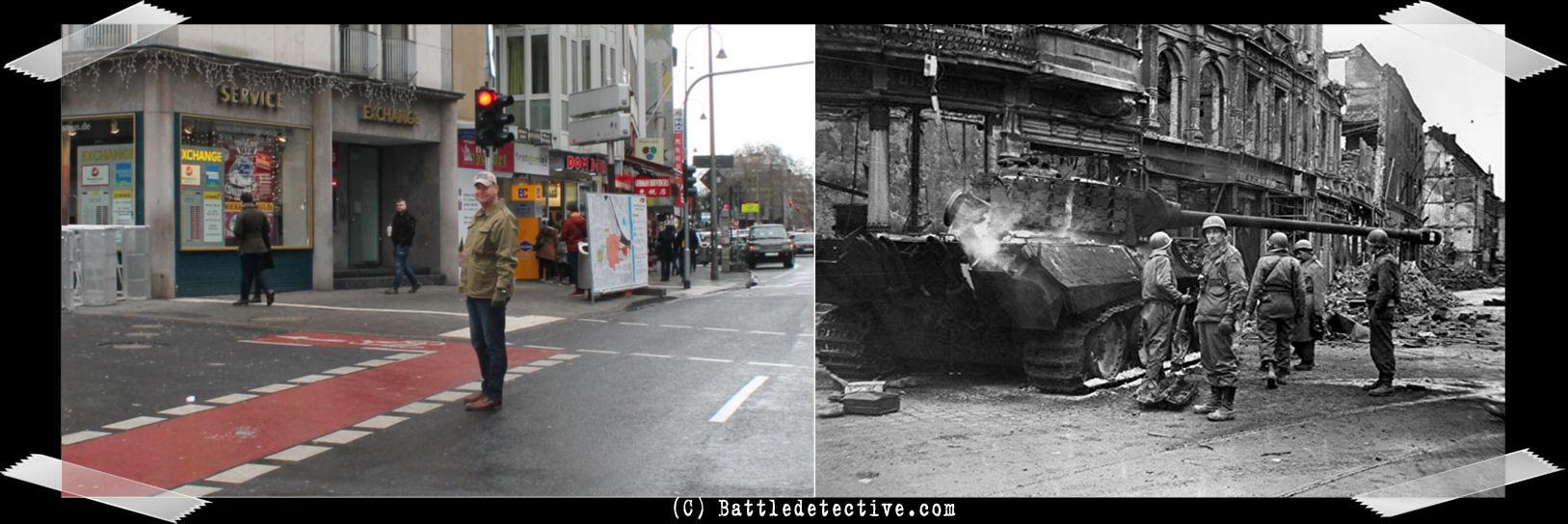 Germany 1945 Tank WW2 Destruction Koln Photo Soldiers